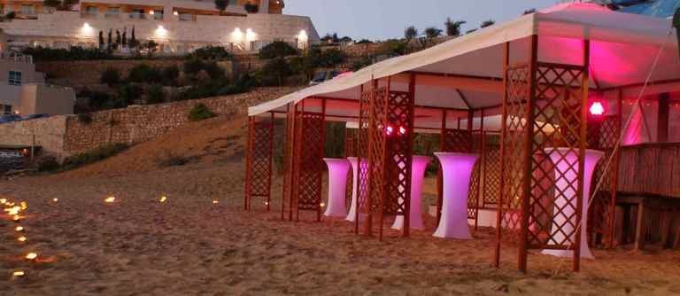 Wooden Gazebo 4x4 for rent in Malta.
