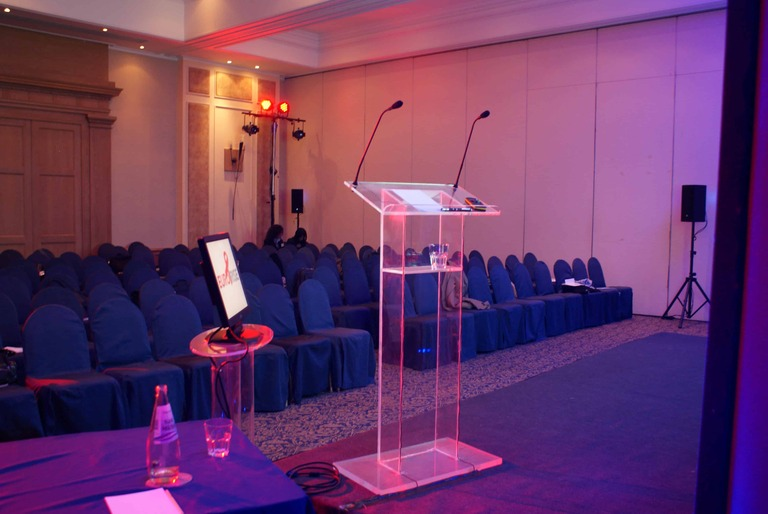 Speaker Podiums for rent in Malta