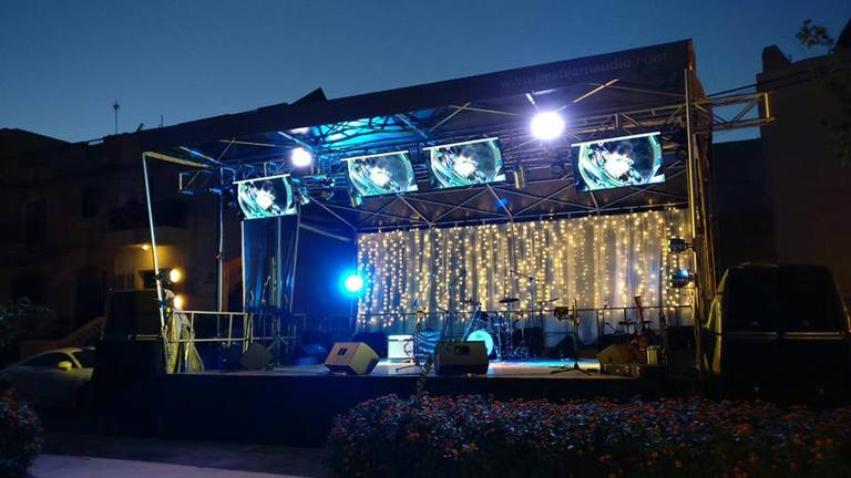 Stage Backdrop lighting for rent in Malta