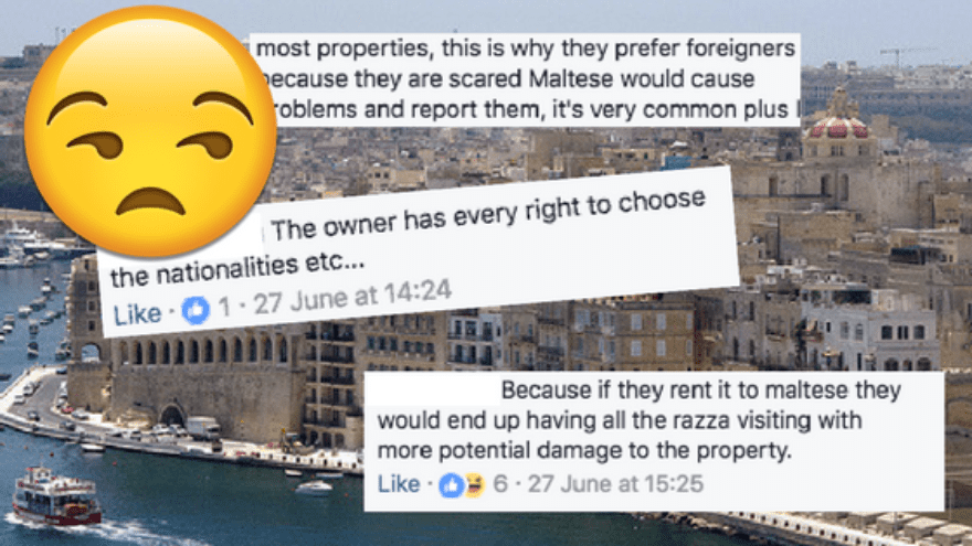 Maltese People Face Discrimination When Trying To Rent Properties In Malta